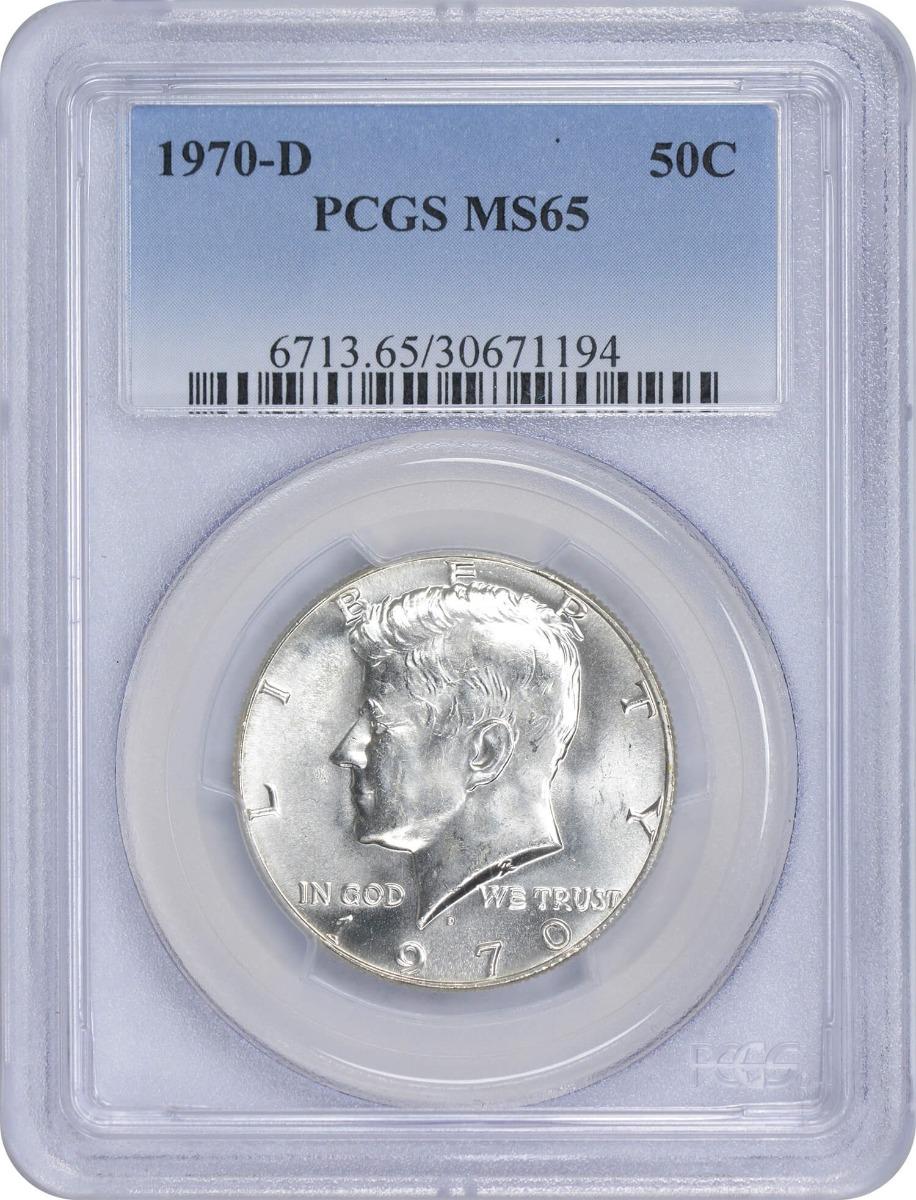 1970-D Kennedy Half Dollar, MS65, PCGS