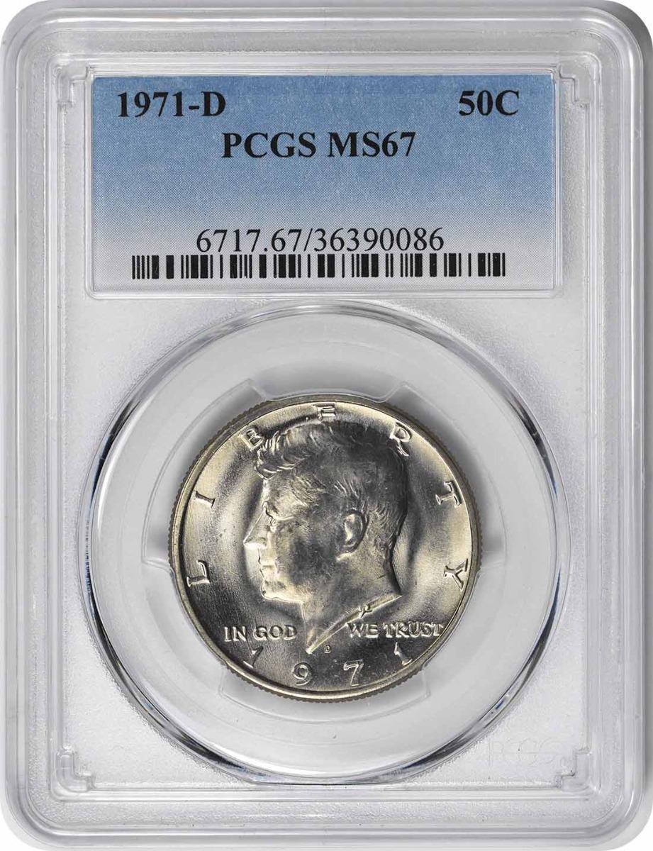 1971-D Kennedy Half Dollar MS67 PCGS