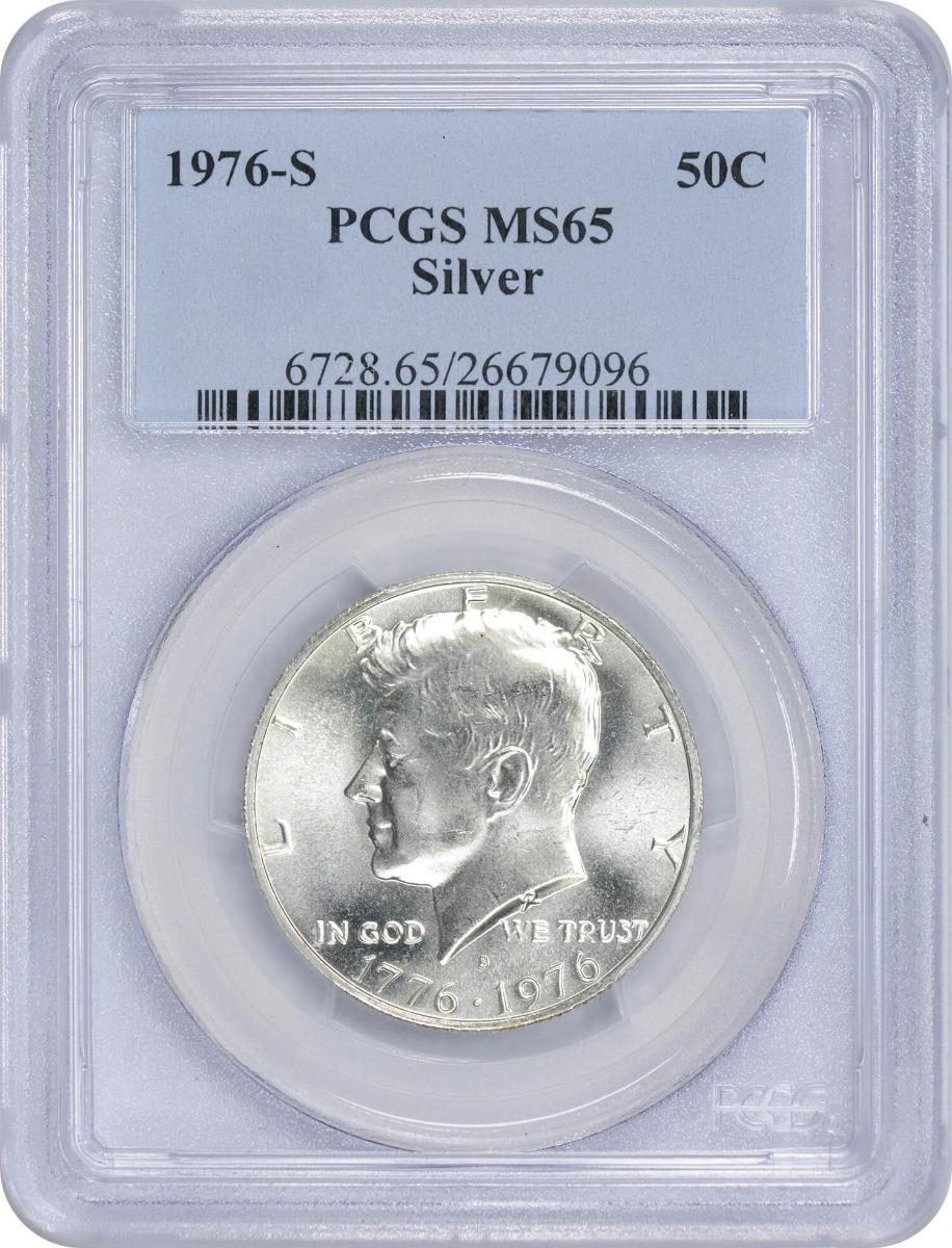 1976-S Kennedy Half Dollar, MS65, Silver, PCGS