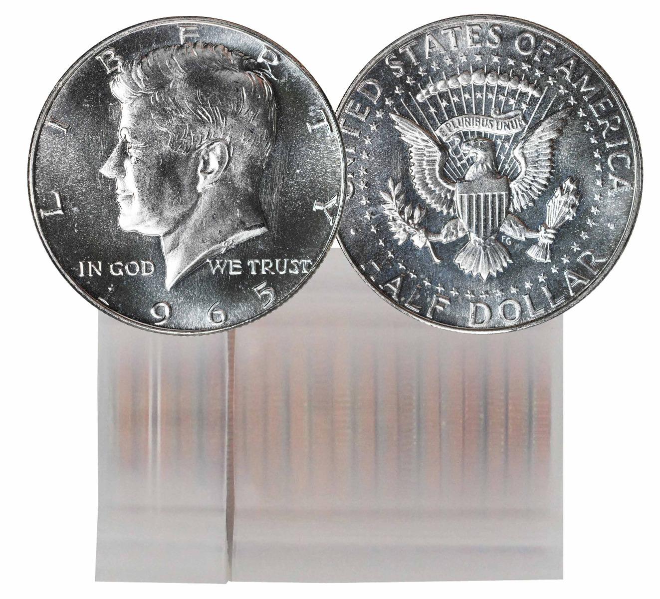 1965 SMS Kennedy Half Dollar 20 Coin Roll