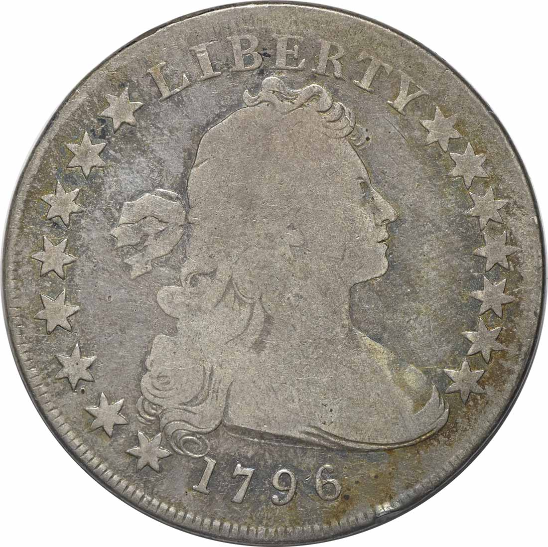 1796 Bust Silver Dollar Small Date Small Letters G Uncertified