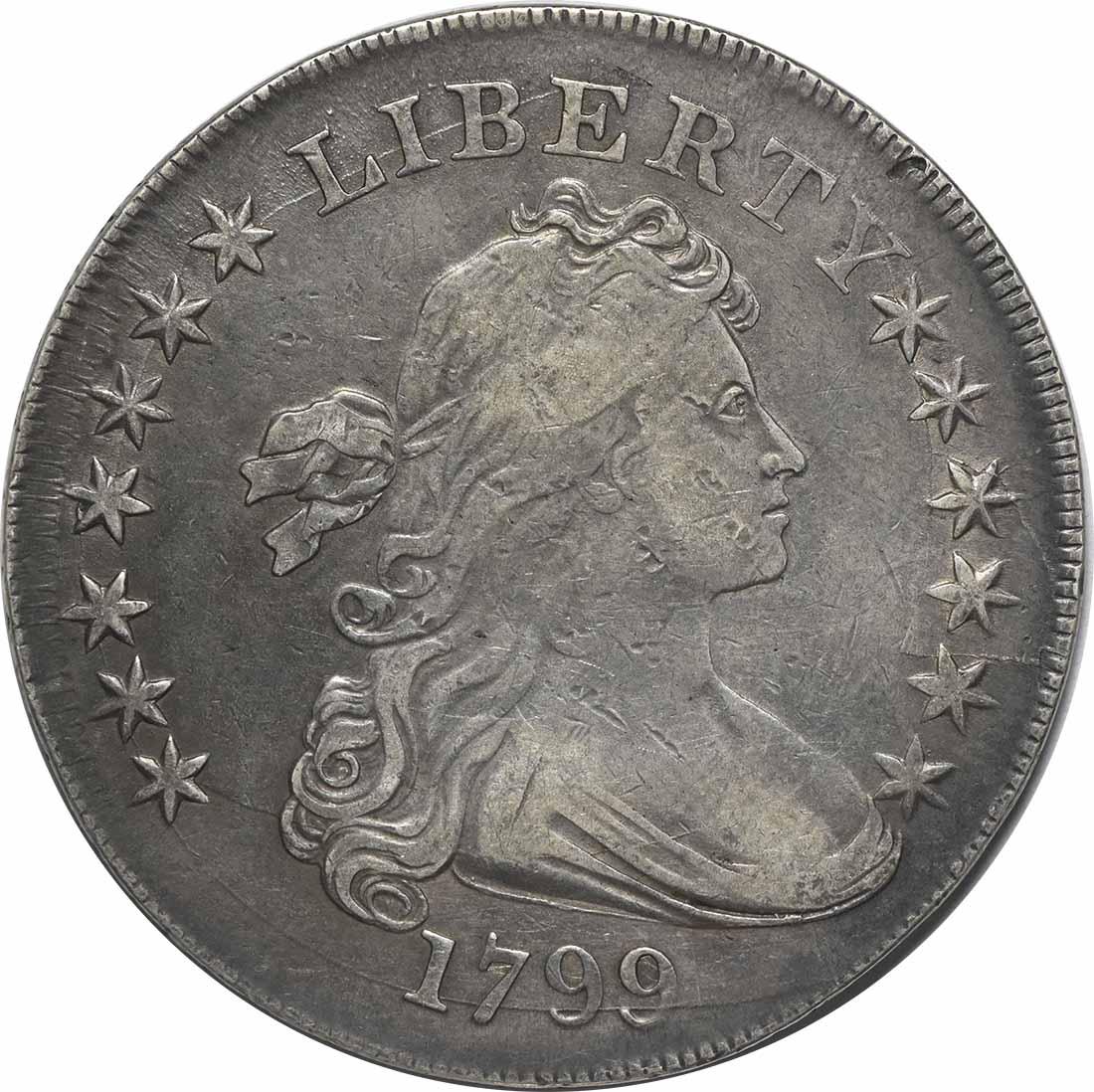1799 Bust Silver Dollar VF Uncertified