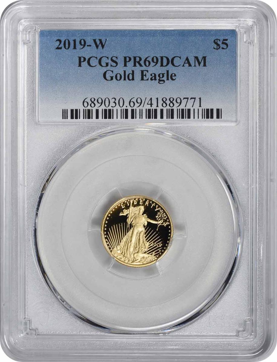 2019-W $5 American Gold Eagle PR69DCAM PCGS