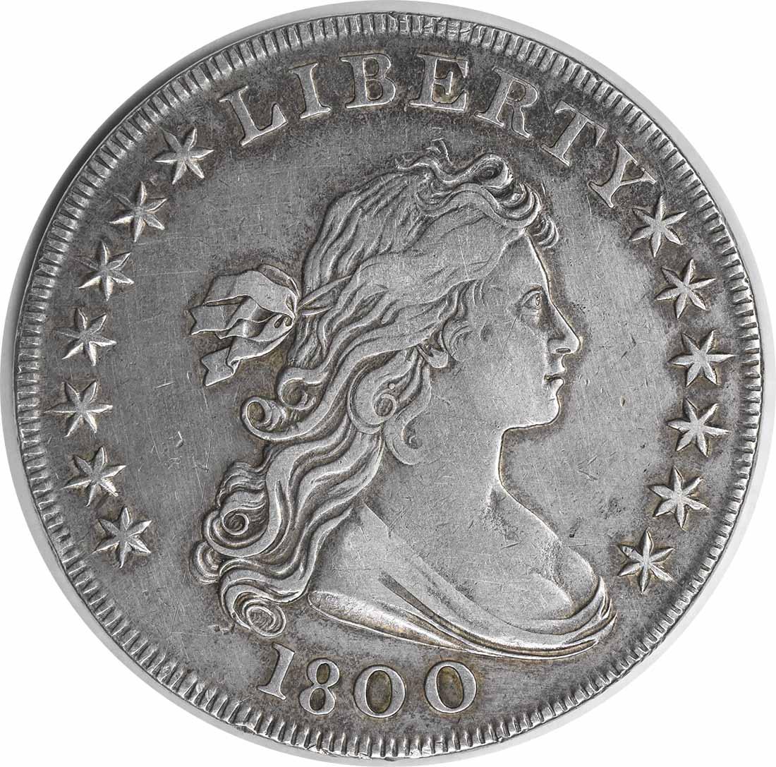 1800 Bust Silver Dollar AMERICAI EF Uncertified