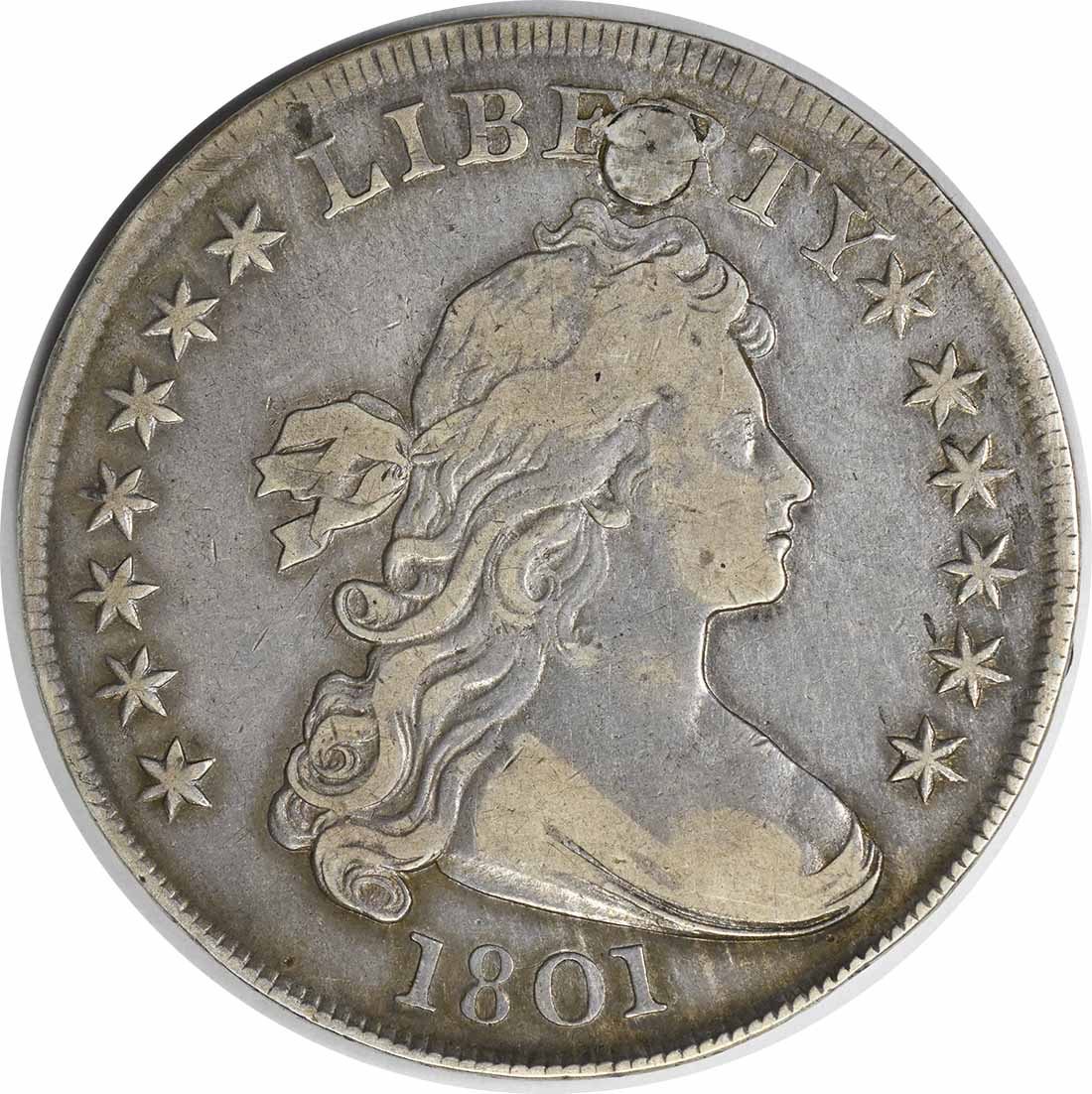 1801 Bust Dollar VF (Plugged) Uncertified