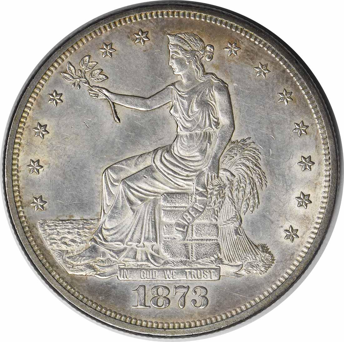 1873 Trade Silver Dollar MS63 Uncertified #232