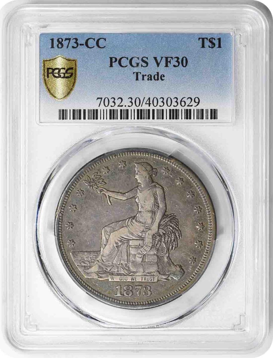 1873-CC Trade Silver Dollar VF30 PCGS