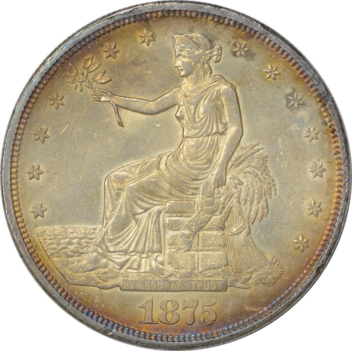 1875-CC Trade Silver Dollar MS63 Uncertified