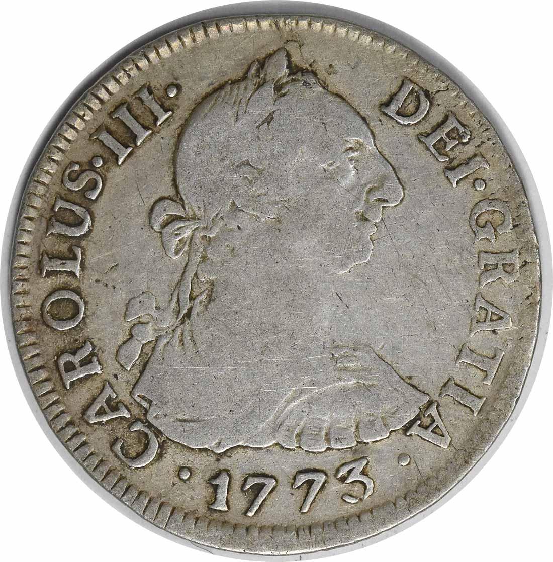 1773 JM Peru 2 Reales KM76 VF Uncertified