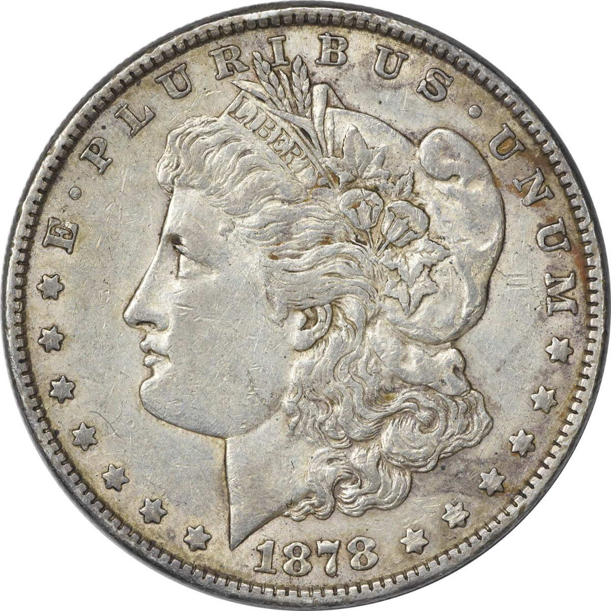 1878 Morgan Silver Dollar 7TF Reverse of 1879 EF Uncertified