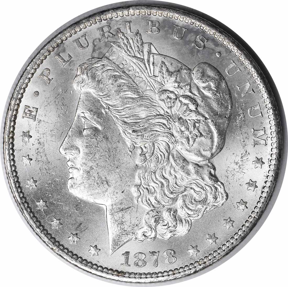 1878-CC Morgan Silver Dollar MS60 Uncertified #152