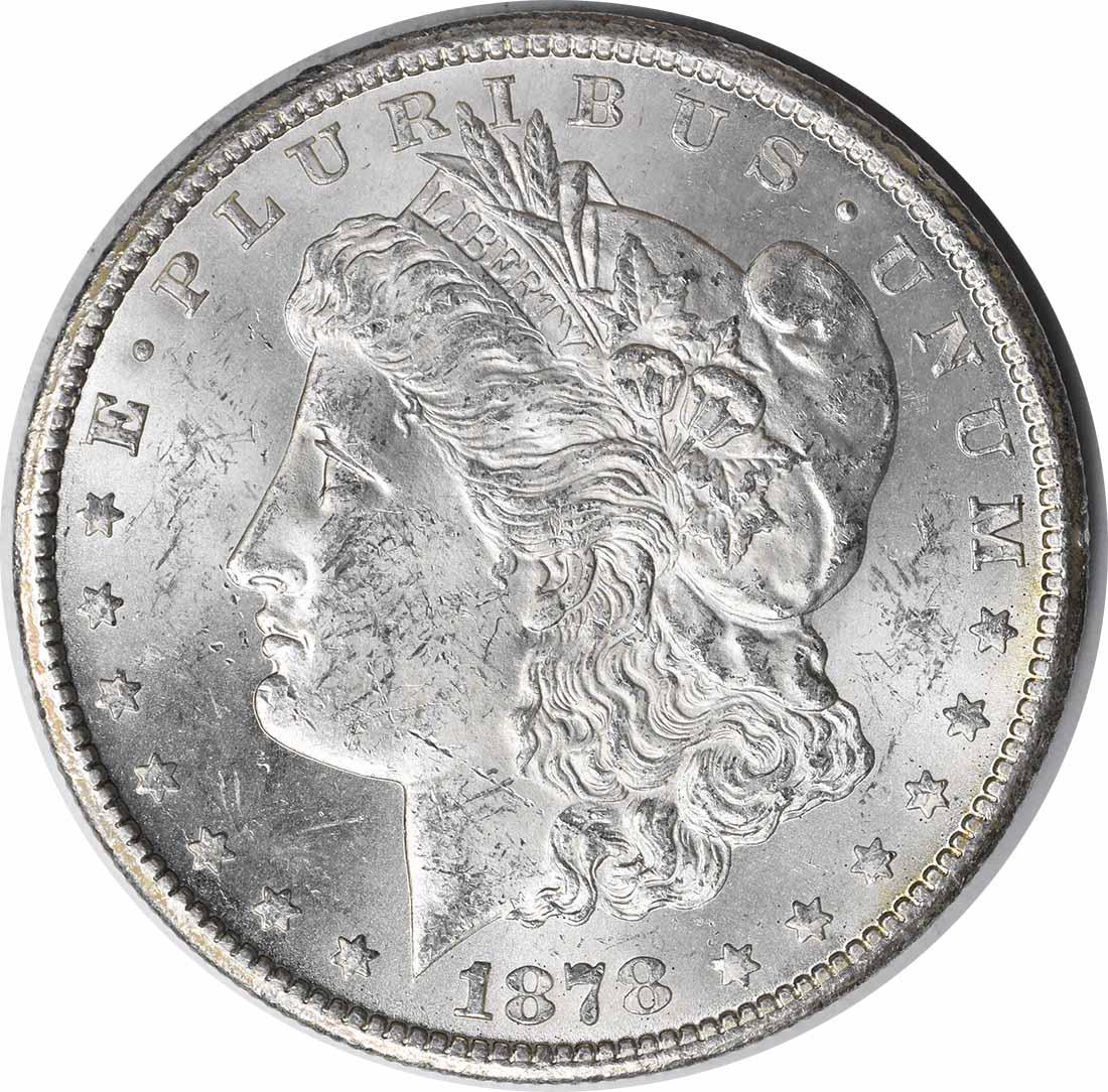 1878-CC Morgan Silver Dollar MS60 Uncertified #153