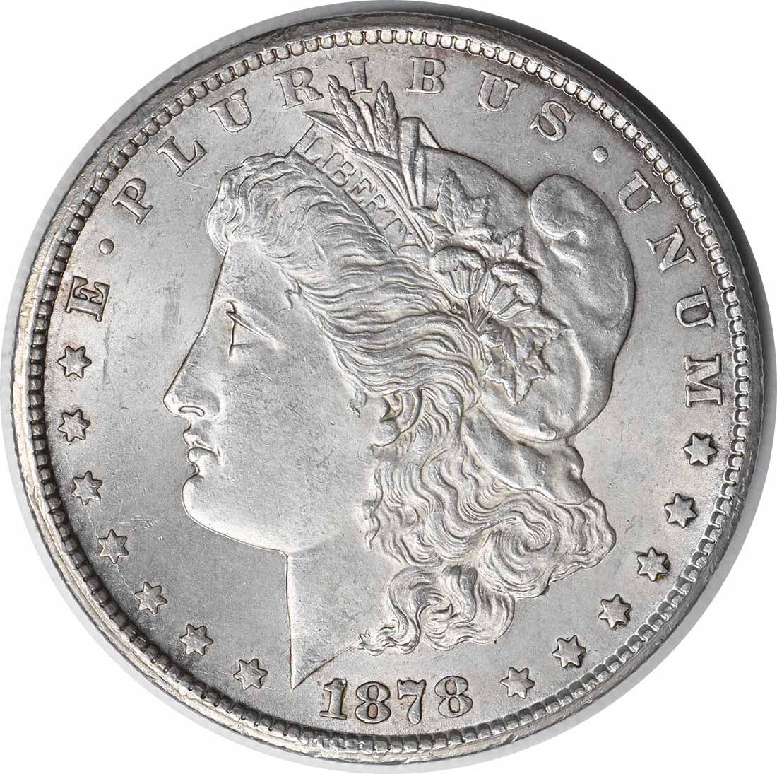 1878-CC Morgan Silver Dollar AU58 Uncertified #223