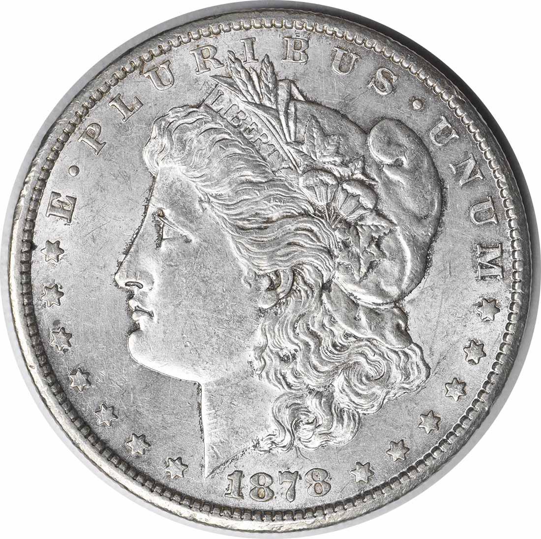1878-CC Morgan Silver Dollar AU58 Uncertified #224