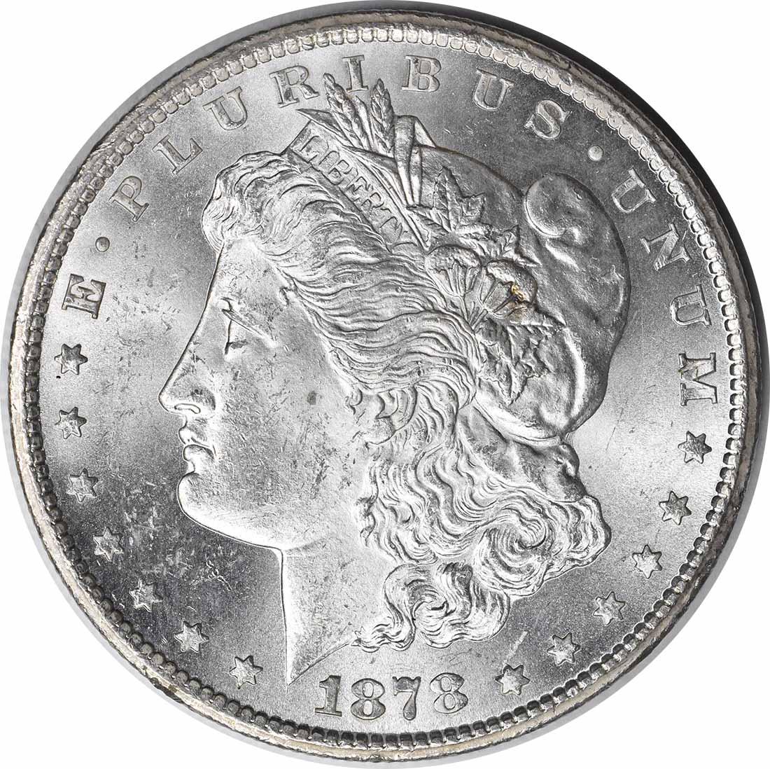 1878-CC Morgan Silver Dollar MS60 Uncertified #231
