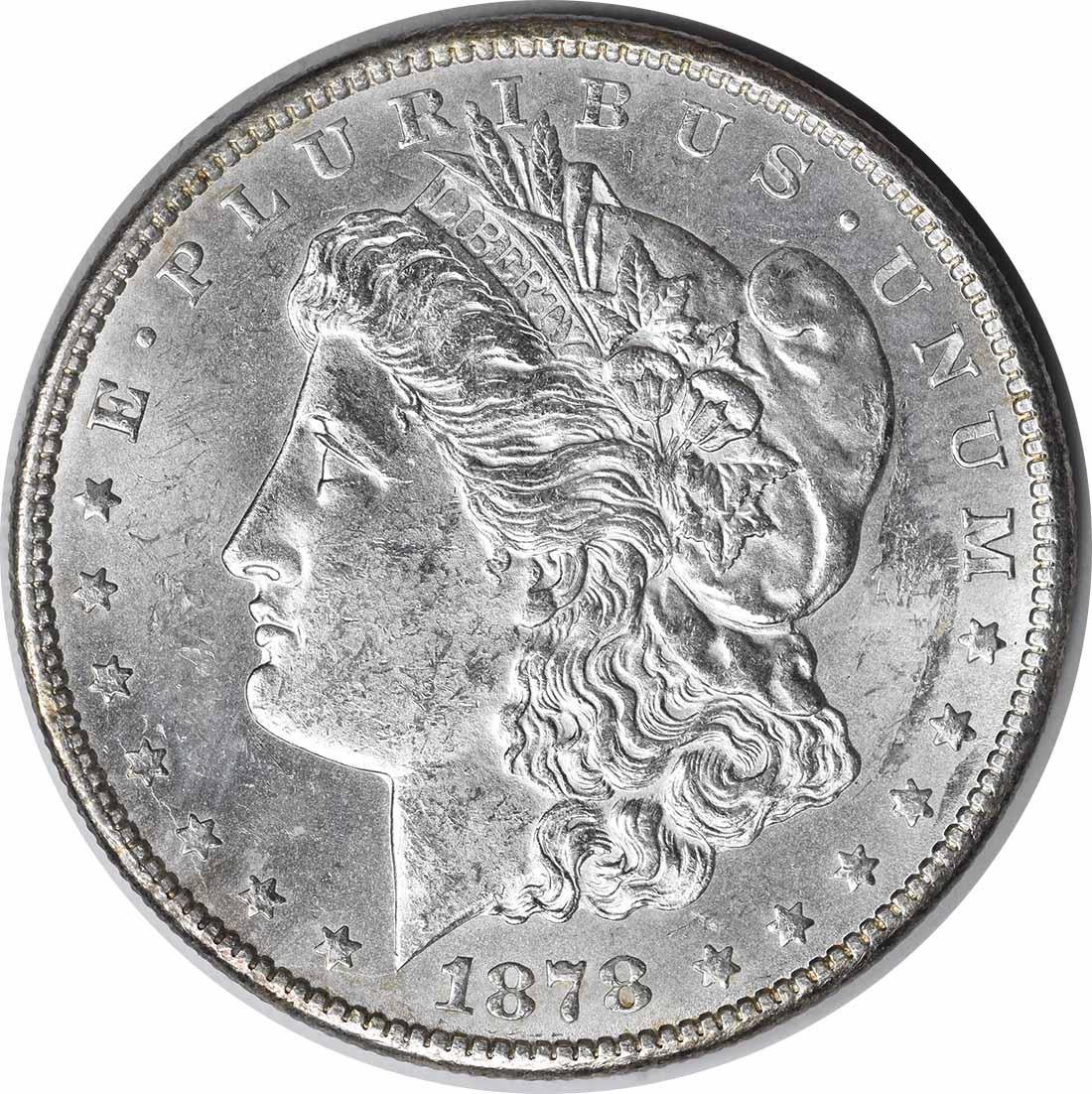 1878-CC Morgan Silver Dollar MS60 Uncertified #233