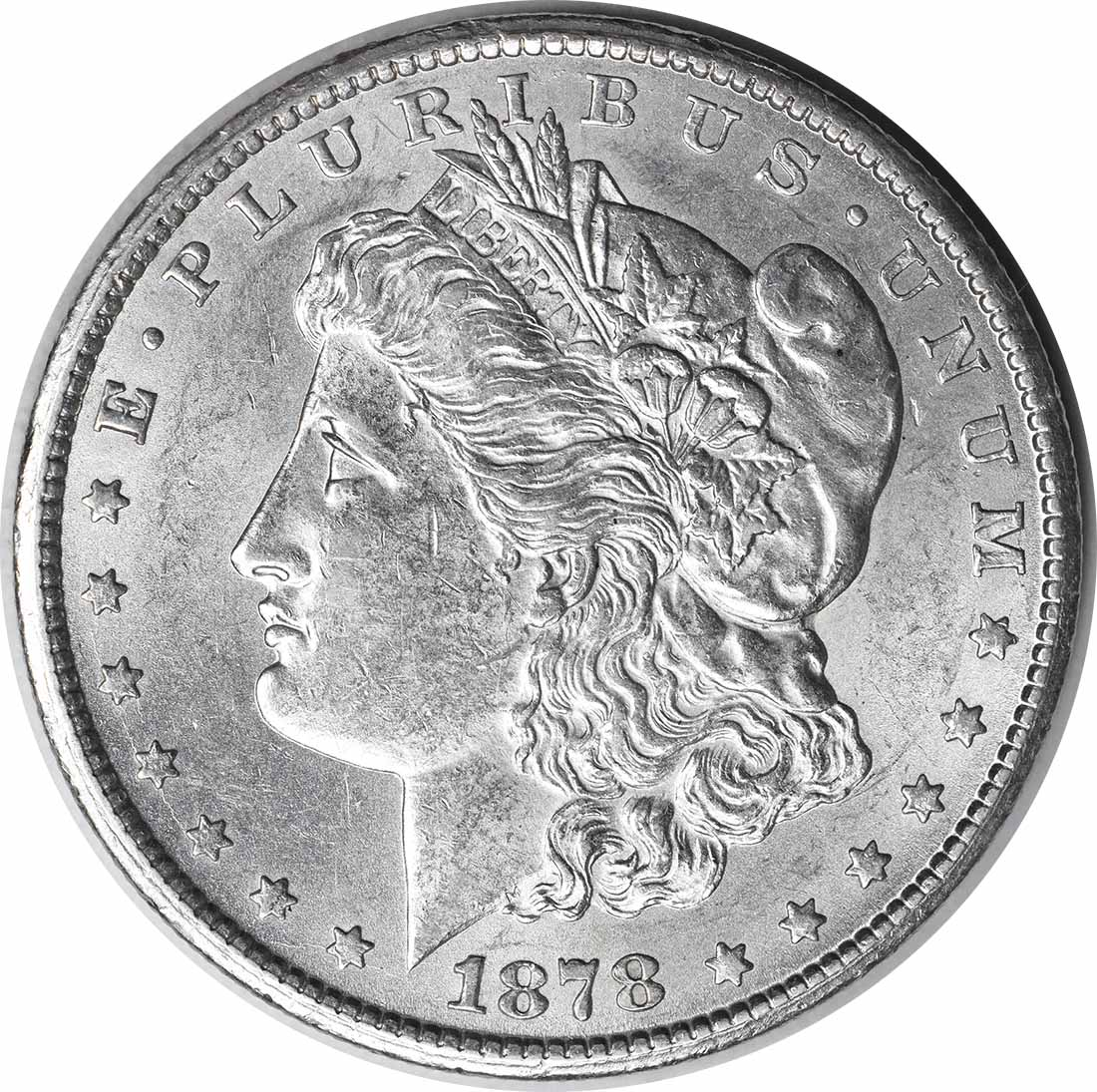 1878-CC Morgan Silver Dollar MS60 Uncertified #235