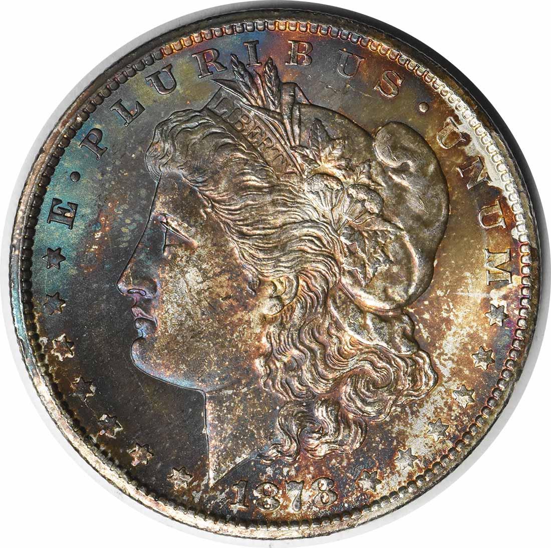 1878-CC Morgan Silver Dollar MS63 Toned Uncertified