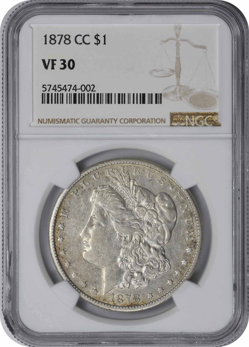 1878-CC Morgan Silver Dollar VF30 NGC