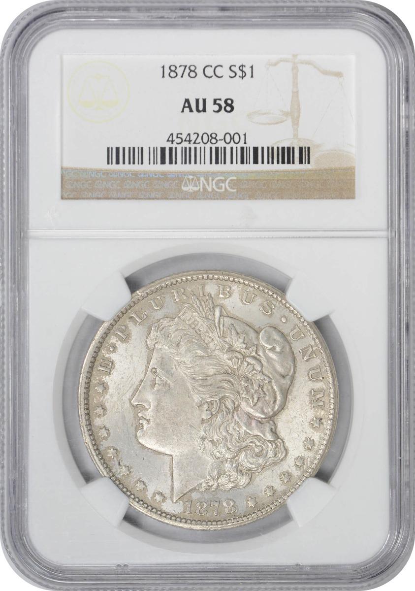 1878-CC Morgan Silver Dollar AU58 NGC