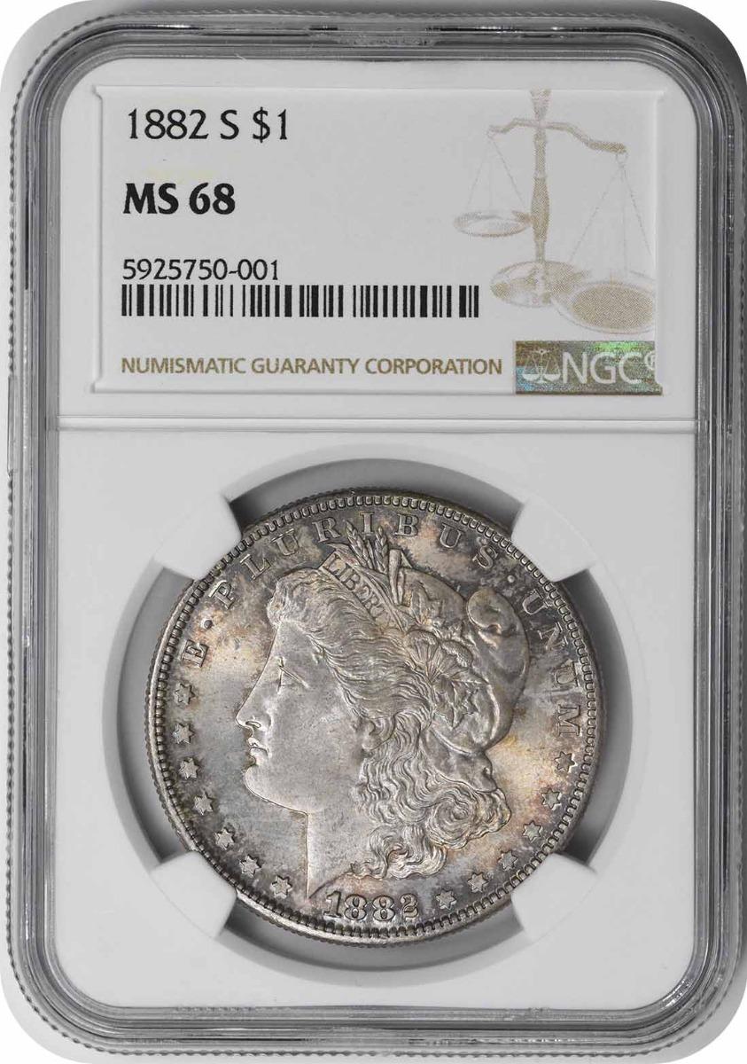 1882-S Morgan Silver Dollar MS68 NGC