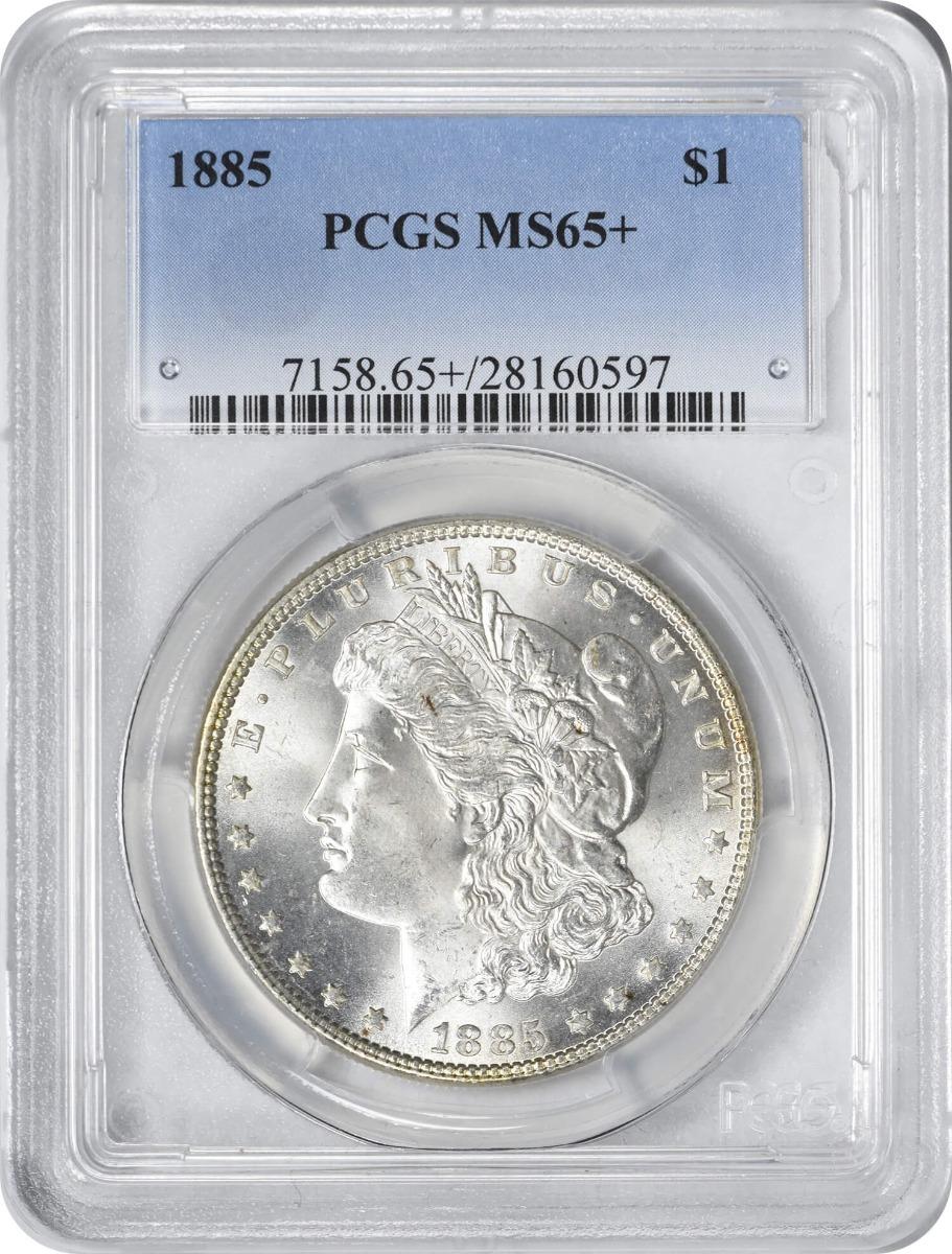 1885 Morgan Silver Dollar MS65+ PCGS