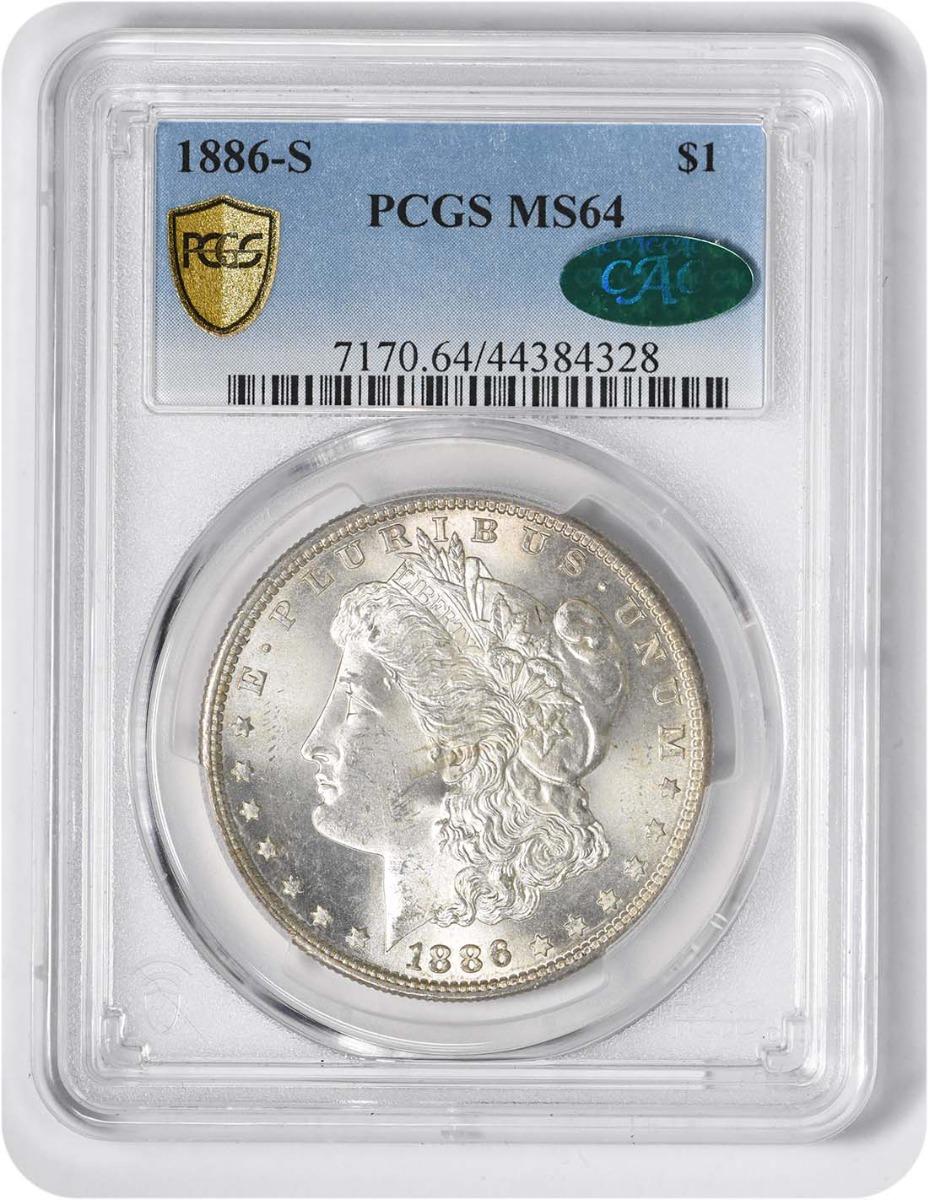 1886-S Morgan Silver Dollar MS64 PCGS (CAC)