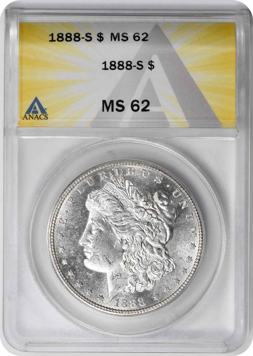 1888-S Morgan Silver Dollar MS62 ANACS