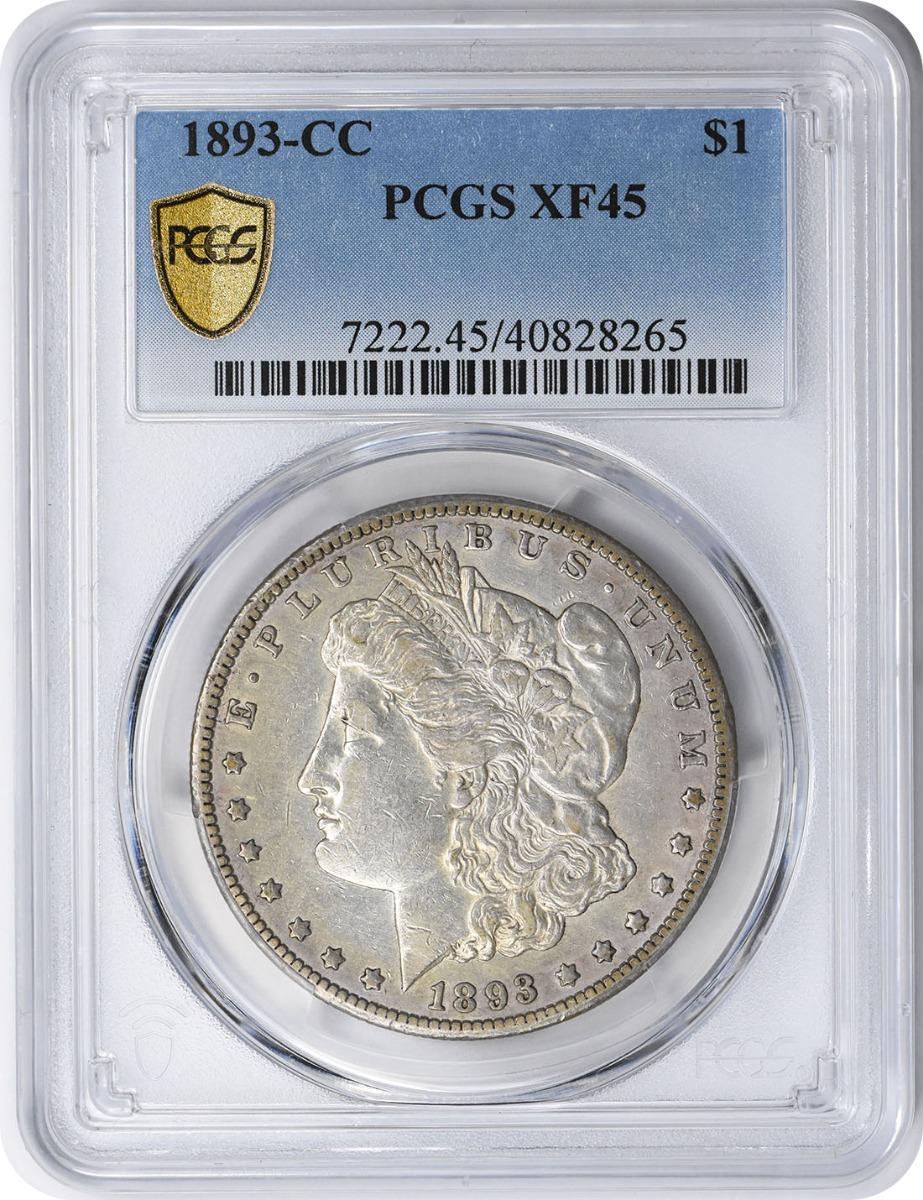 1893-CC Morgan Silver Half Dollar EF45 PCGS