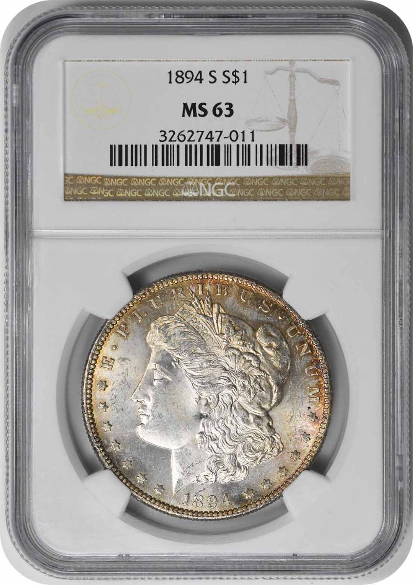 1894-S Morgan Silver Dollar MS63 NGC