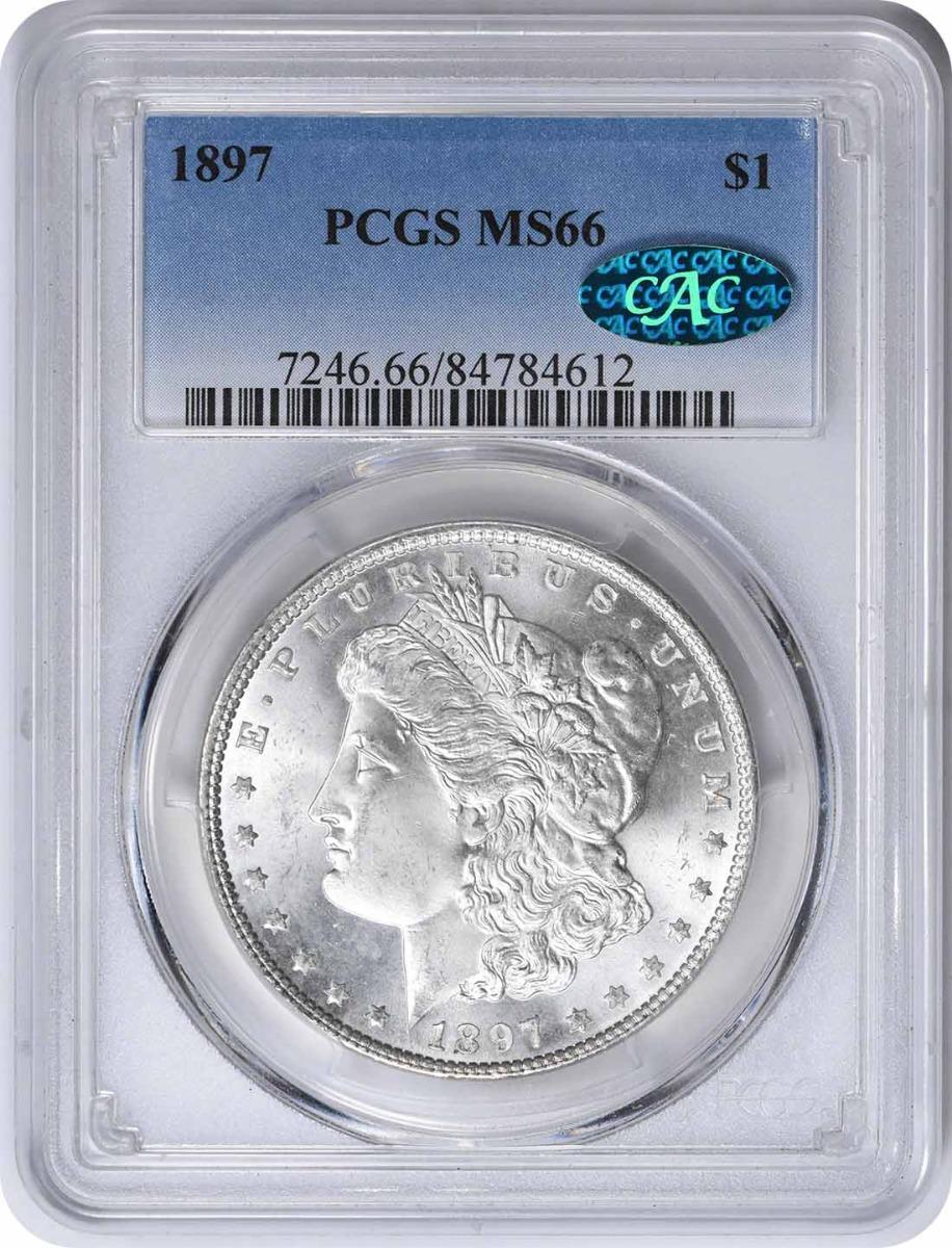 1897 Morgan Silver Dollar MS66 PCGS (CAC)