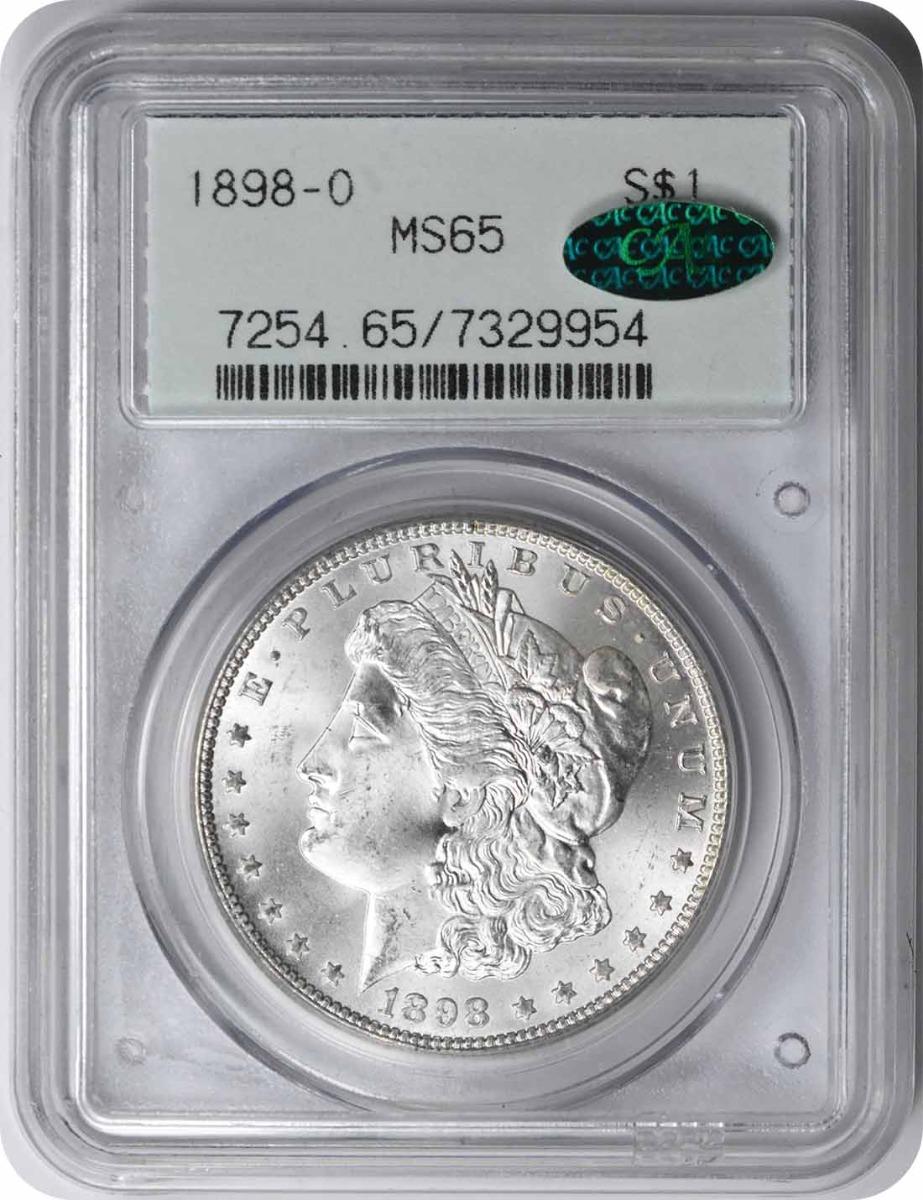 1898-O Morgan Silver Dollar MS65 PCGS (CAC)
