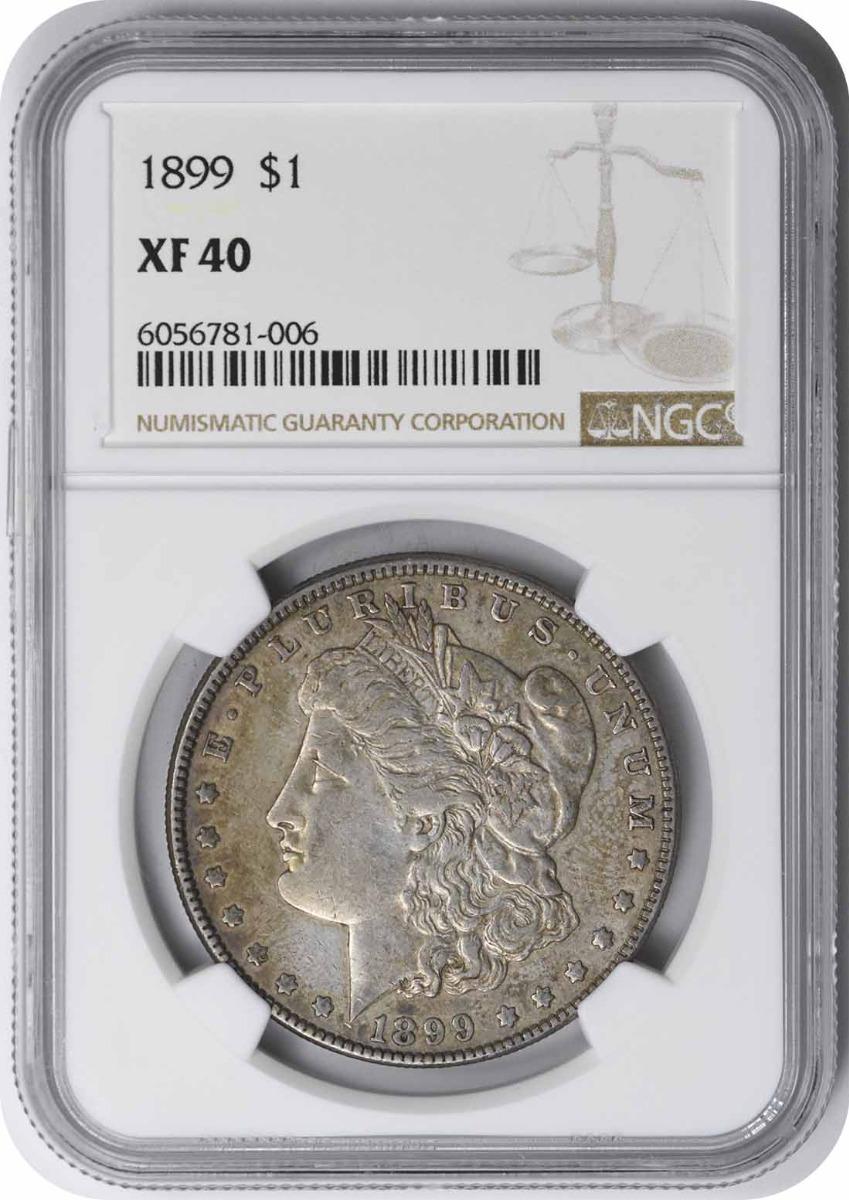 1899 Morgan Silver Dollar EF40 NGC