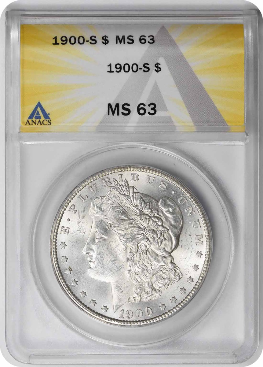 1900-S Morgan Silver Dollar MS63 ANACS