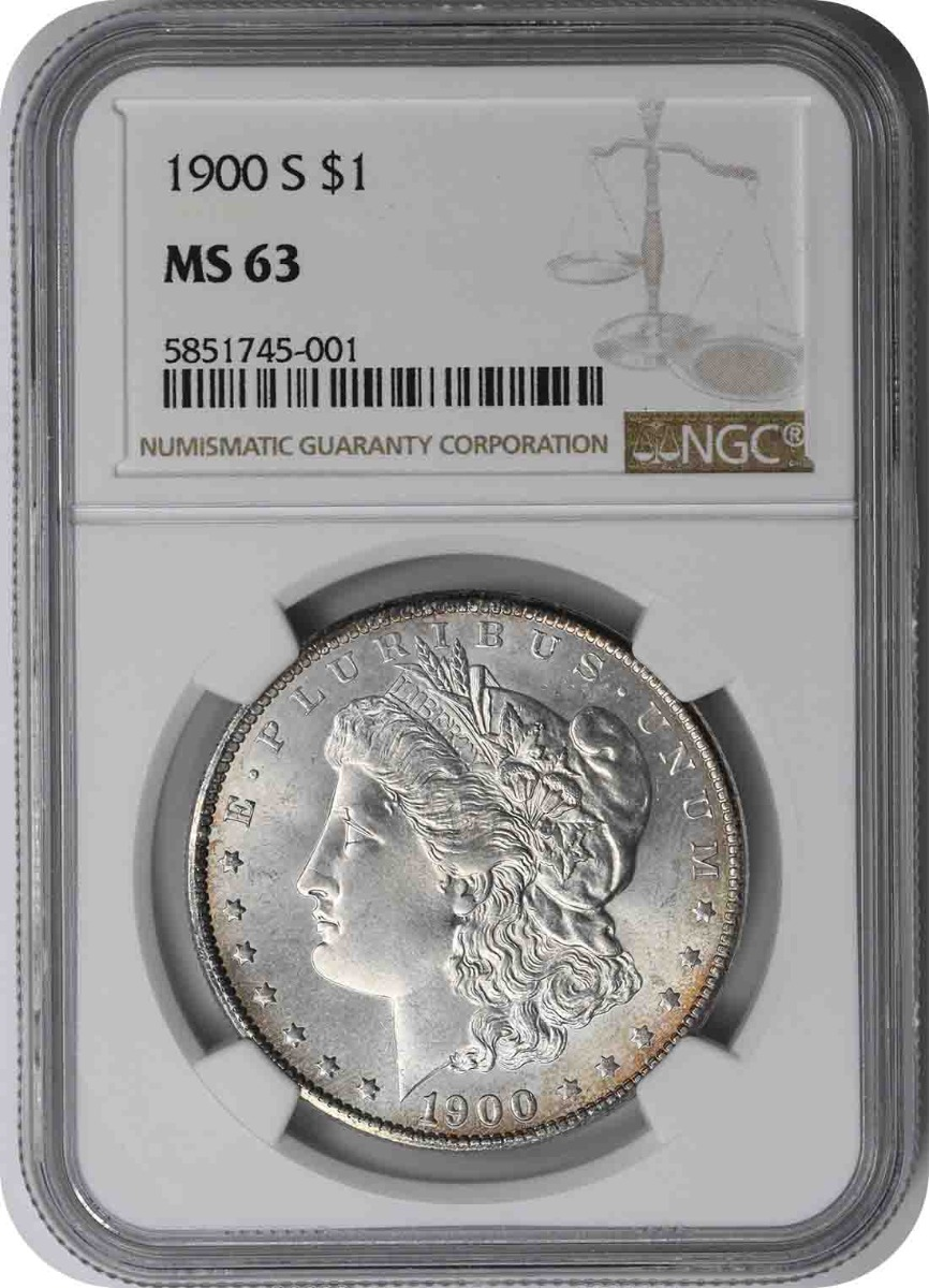 1900-S Morgan Silver Dollar MS63 NGC
