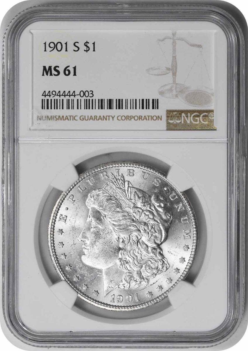 1901-S Morgan Silver Dollar MS61 NGC