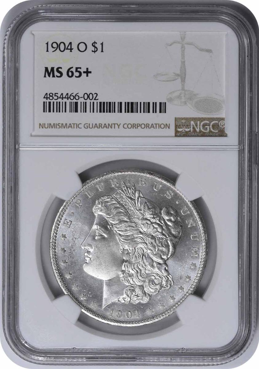 1904-O Morgan Silver Dollar MS65+ NGC