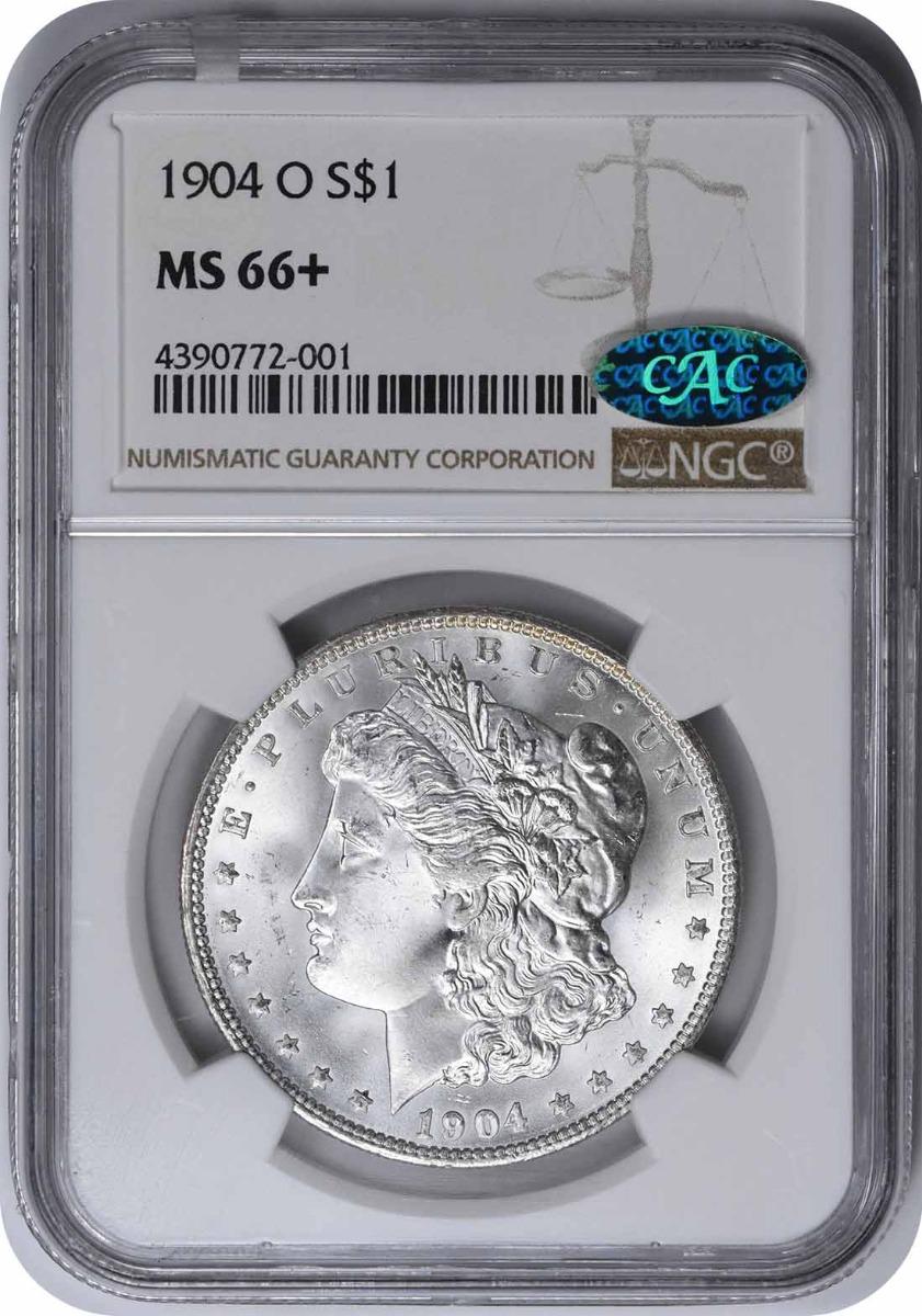 1904-O Morgan Silver Dollar MS66+ NGC (CAC)