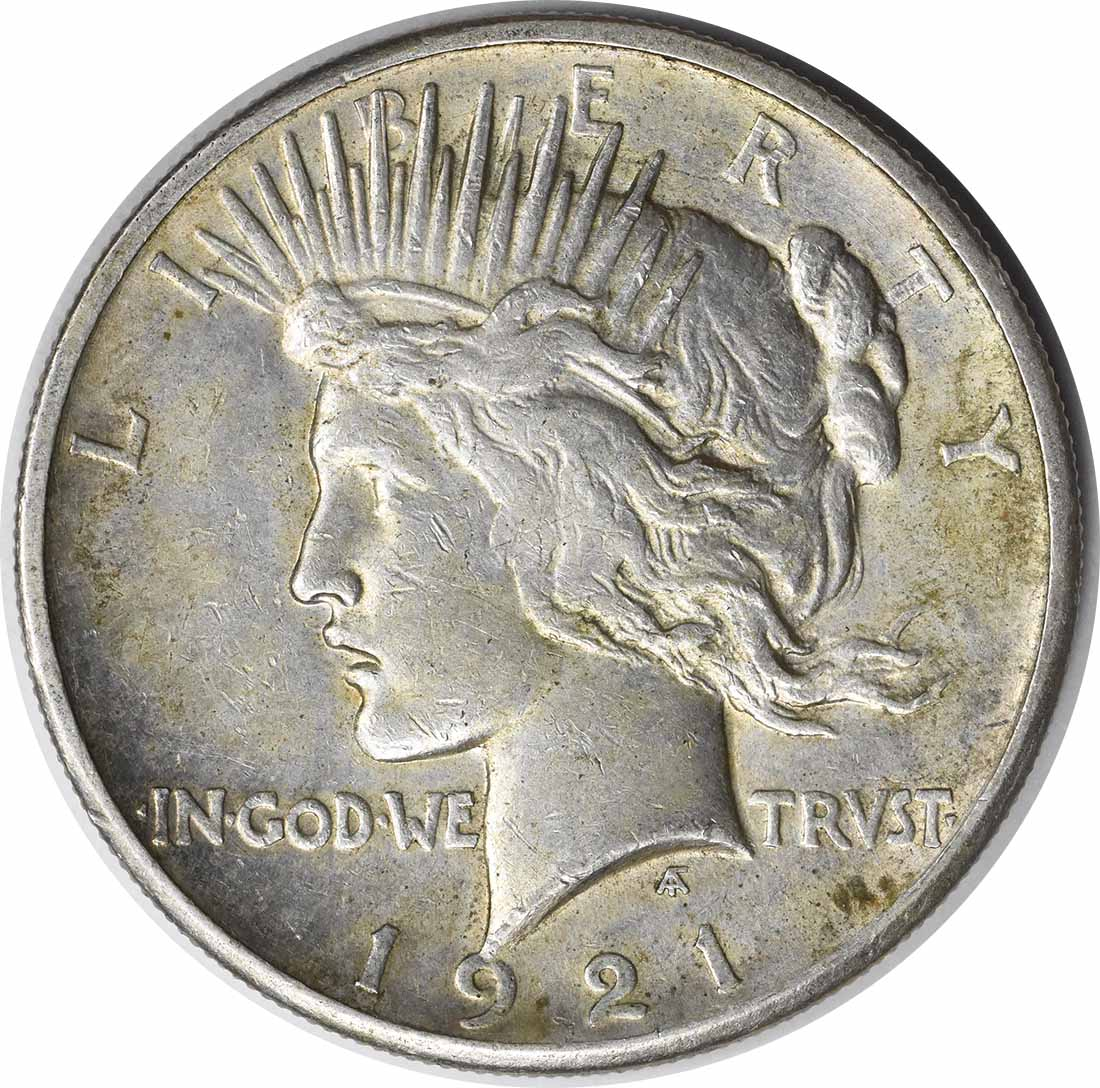 1921 Peace Silver Dollar AU Uncertified #204