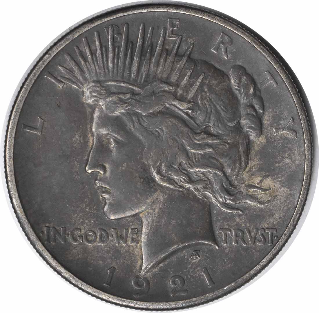 1921 Peace Silver Dollar EF Uncertified