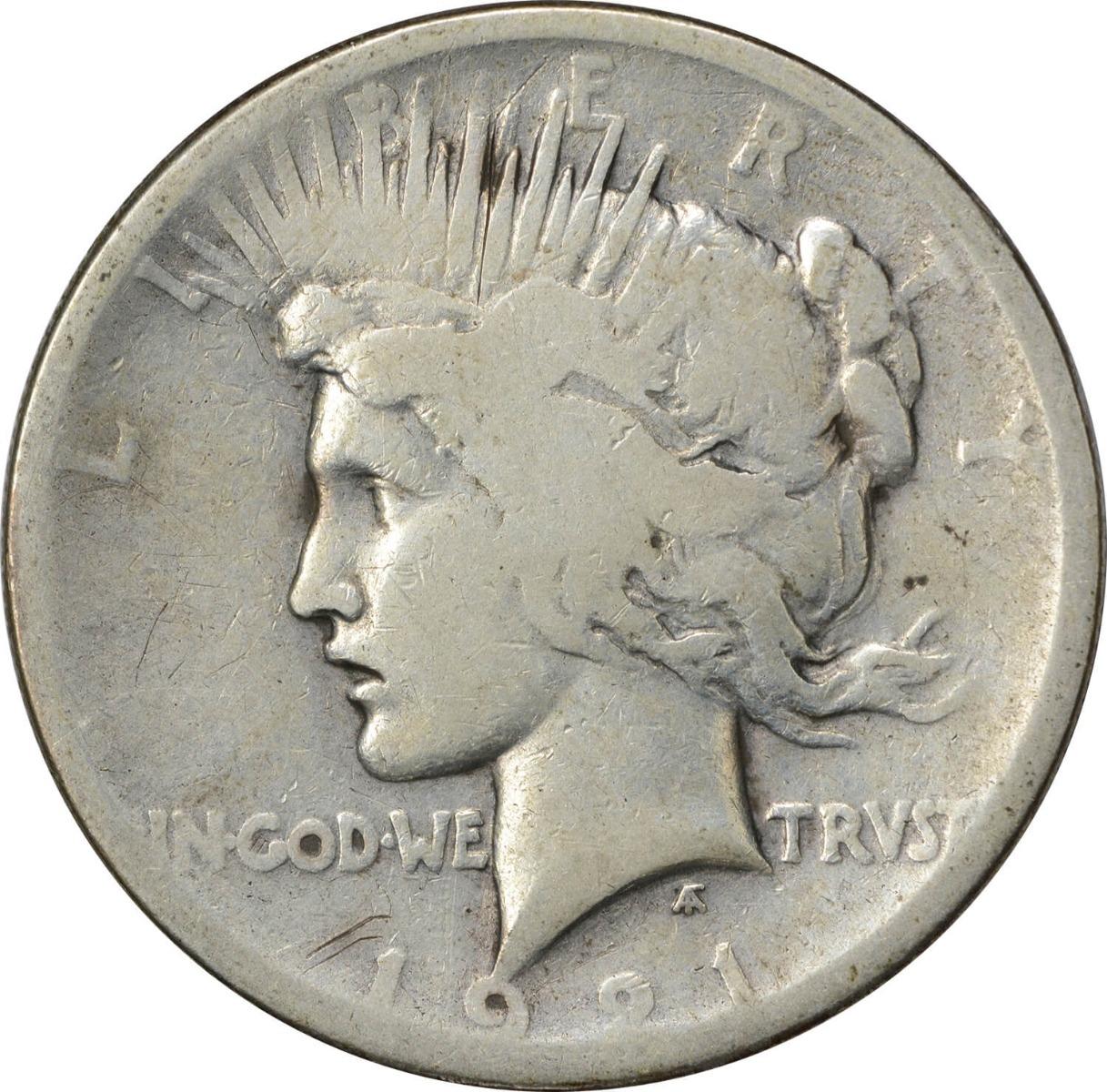 1921 Peace Silver Dollar G Uncertified