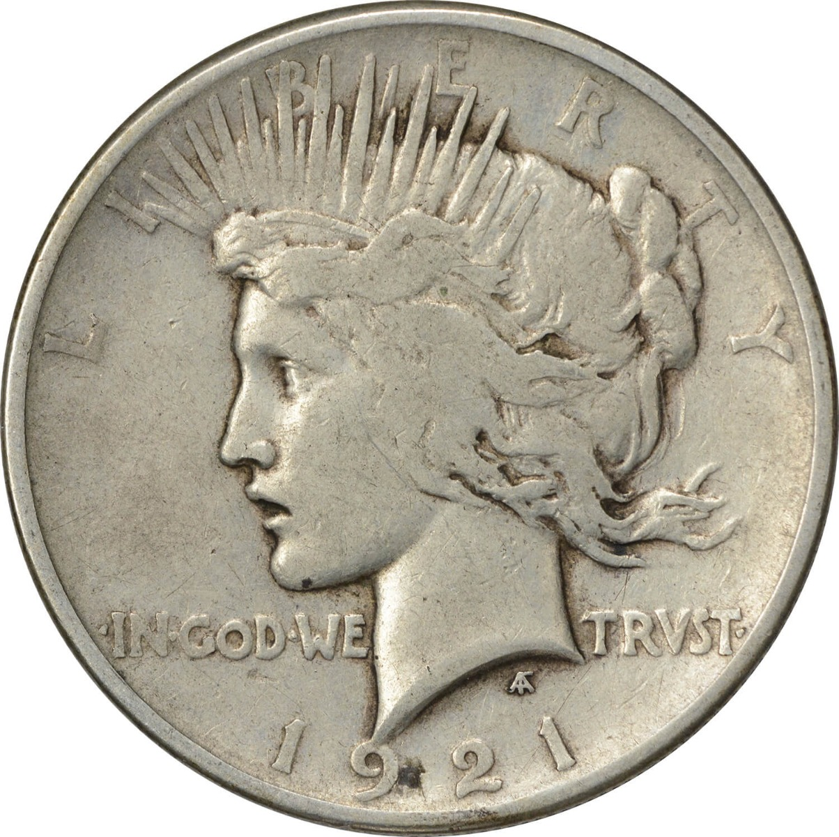 1921 Peace Silver Dollar VG Uncertified