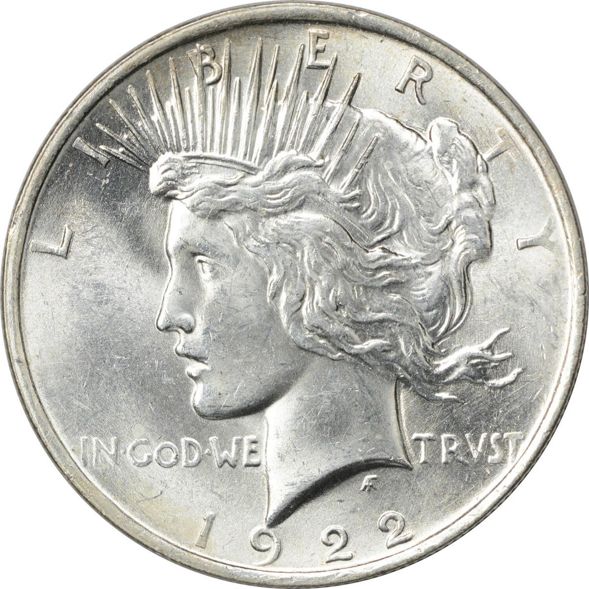 1922 Peace Silver Dollar MS60 Uncertified