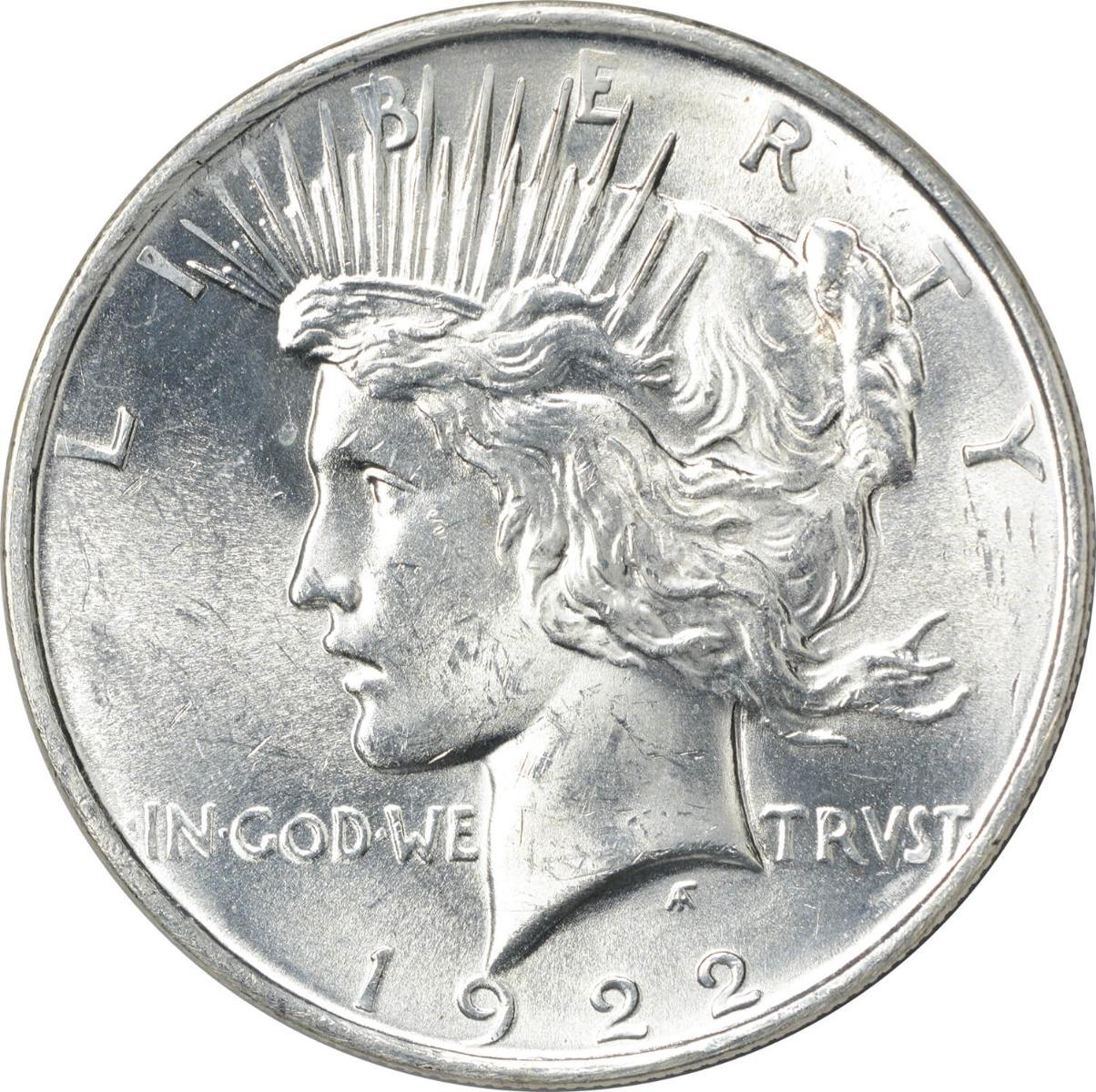 1922 Peace Silver Dollar MS63 Uncertified