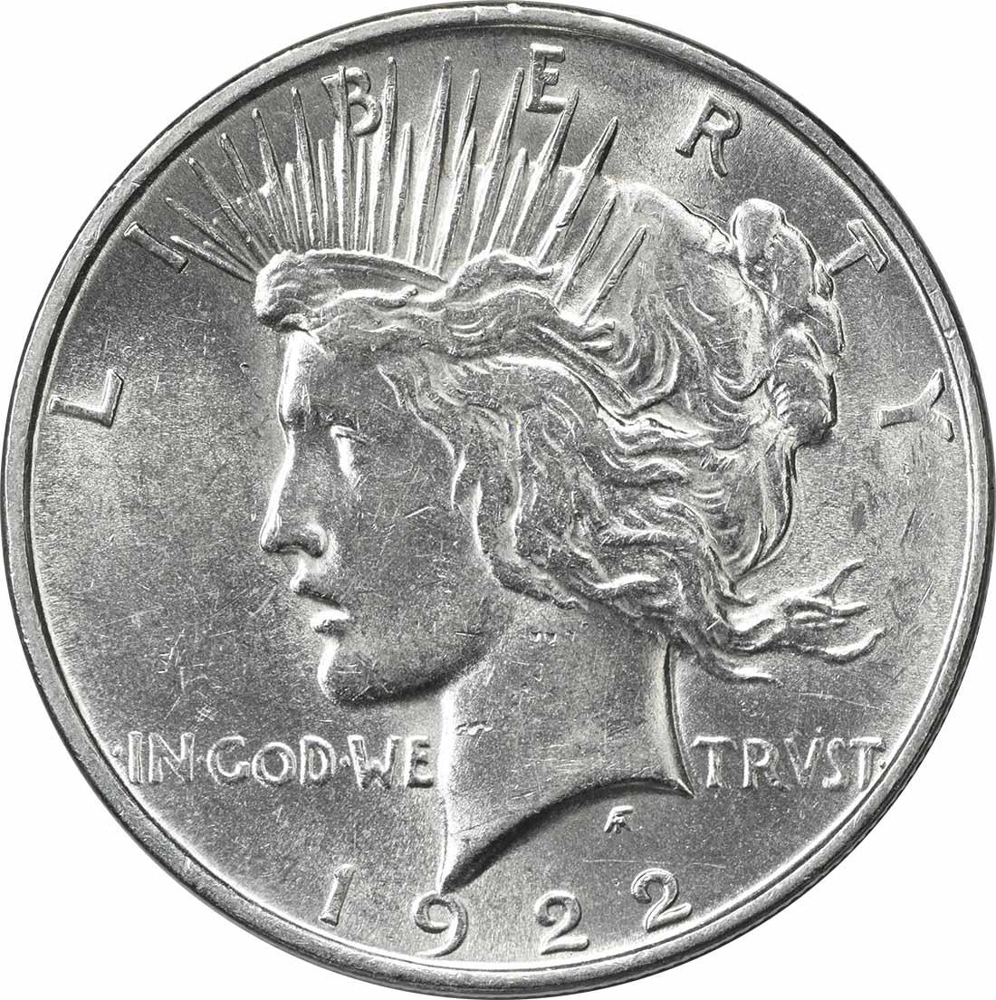 1922-D Peace Silver Dollar AU58 Uncertified