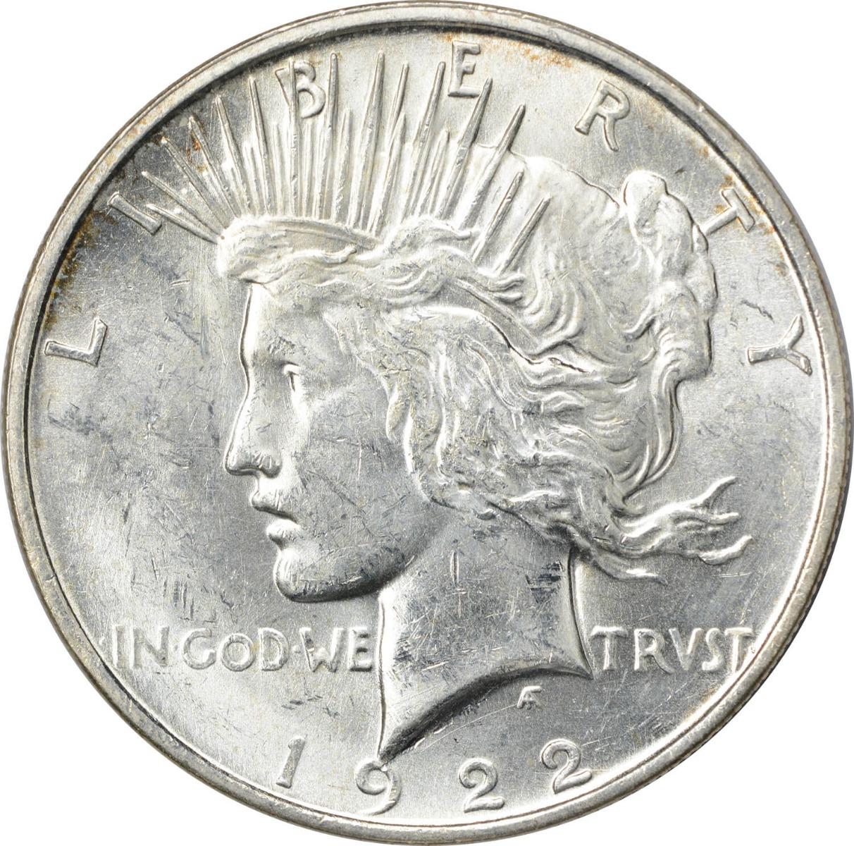 1922-D Peace Silver Dollar MS60 Uncertified