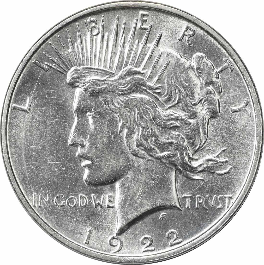 1922-D Peace Silver Dollar AU Uncertified