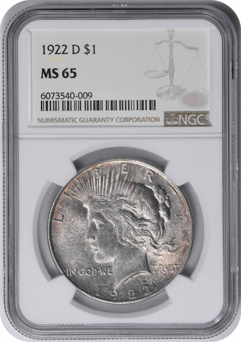 1922-D Peace Silver Dollar MS65 NGC