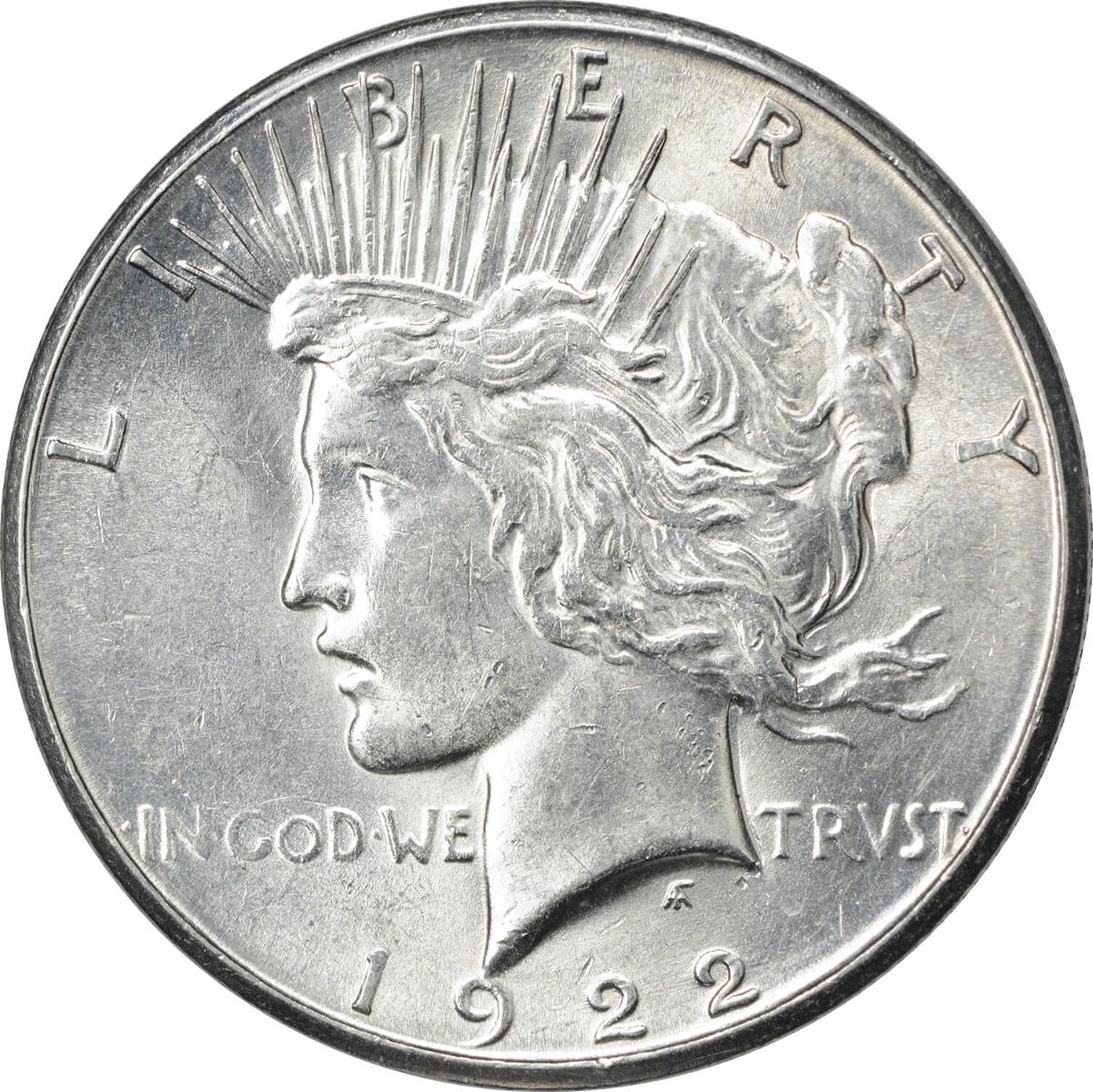 1922-S Peace Silver Dollar AU Uncertified