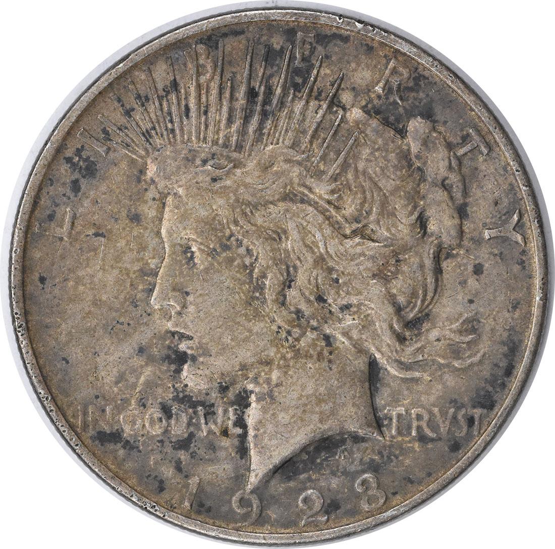 1923-D Peace Silver Dollar EF Uncertified